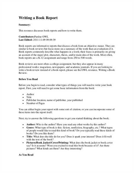 College Application Report Writing Great