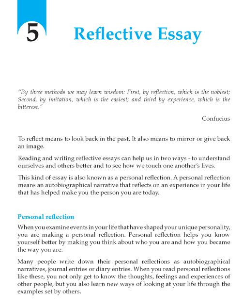 Essay In Book